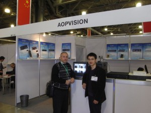 At AOPVISION booth, international forum Safety technologies- 2009