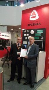 At Сибирский Арсенал booth, exhibition MIPS- 2012