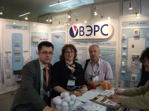 At ВЭРС booth, exhibition MIPS- 2012