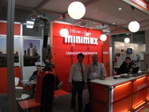At Minimax booth, exhibition MIPS- 2012