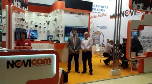 At NOVIcam booth, exhibition MIPS- 2012